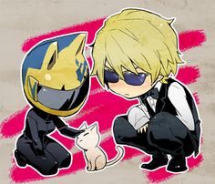 Celty, Shizuo, & a kitty