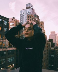girl and supreme image