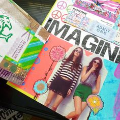 Spreads 2 and 3 of my mail art scrapbook journal are complete! I shared a peek of #2 via Instagram the other day, but here it is again in f...
