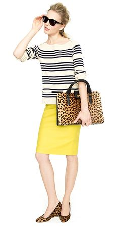 j crew spring collection - like the bag and shoes!