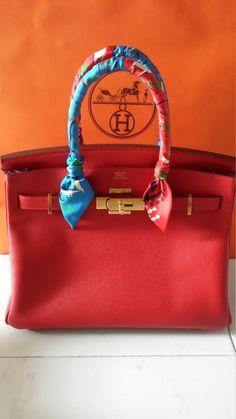 Hermes B30 Rouge Casaque ghw