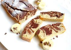 Leckerer Marmor-Bananenkuchen ohne Butter oder Zucker, perfekt für den süßen Hunger am Nachmittag oder zum Frühstück - garantiert eine gesunde Variante!