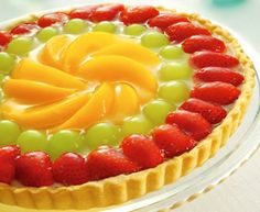 Torta de frutas.
