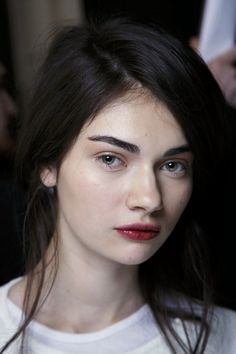 Beautiful | Stained lips and bold brows. |