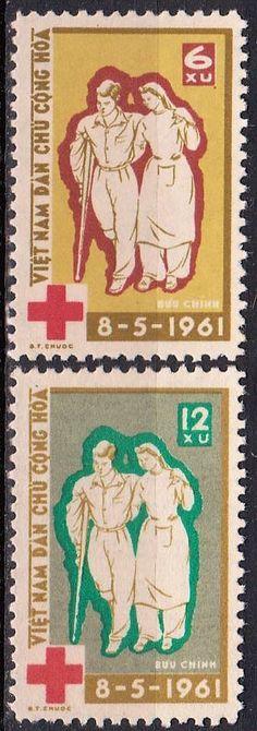 Vietnam - Red Cross postage stamps, 1961.