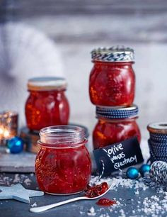 A classic spiced chutney to serve with cheese or cold cuts. The flavour gets mellower and deeper the longer it's left, so give it at least a week before diving in.