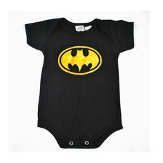 Por apenas R$19,90 a unidade de cada body!   Body Batman - algodão especial R$ 19,90  ou 4x de R$ 5,34 no cartão