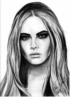 Cara Delevingne Art by Keeley Jones