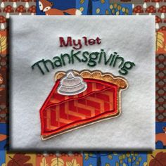 My 1st Thanksgiving Machine Embroidery Design Digital Applique Instant Download