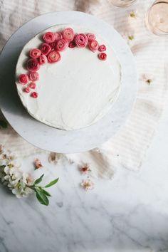 Almond Cake with Rhubarb // NotWithoutSalt.com