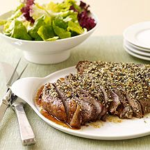 Roasted Sirloin Beef (Weight Watchers)  This is an amazing recipe...so easy and so yummy.  I make it with tenderloin and there's never any leftovers.