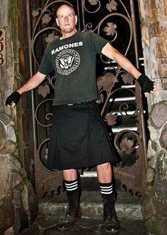 Black Kilt plus a Ramones shirt