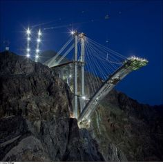 construction of hoover dam bypass 01 The Amazing Hoover Dam Bypass Bridge Nears Completion
