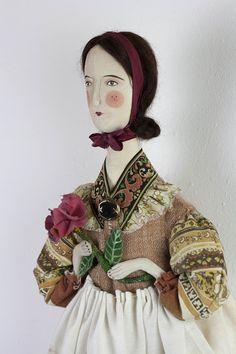 "Folk Doll ""Rossitva"" handmade by Pantovola #artdoll #handmade #crafts #textileart #folkdoll #folklore #dollart #ooak #pantovola"