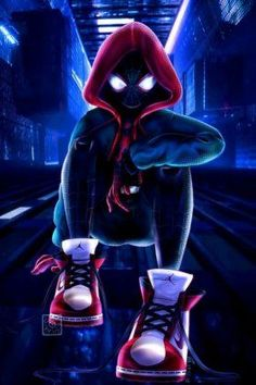 Miles Morales - Ultimate Spider-Man, Into the Spider-Verse Black Spiderman, Amazing Spiderman, Spiderman Kunst, Spiderman Spider, Marvel Comic Universe, Marvel Art, Marvel Heroes, Marvel Avengers, Marvel Comics