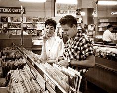"doraemonmon: "" Eddie Cochran at the record shop """