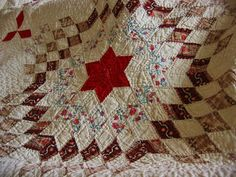 Detail, Spectacular Antique Hand Stitched Calico Star Quilt 11 s P I | eBay, bgrboots