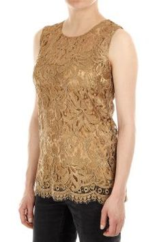 Sleeveless lace Top by Dolce & Gabbana