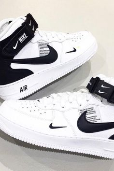 cheap for discount 880e7 f2580 NIKE AIR FORCE 1 MID 07 LV8 WHITE BLACK TOUR AF ONE 804609 103 #NIKEAIRFORCE