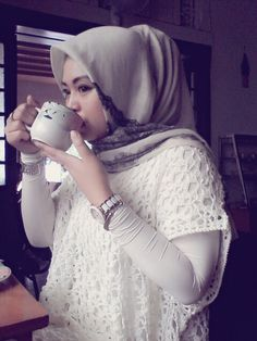Coffee time..hijab