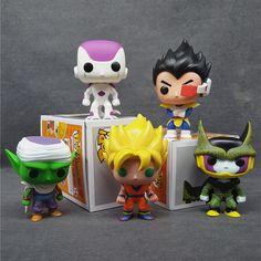 Dragon Ball Z Funko Pop Super Saiyan Son Goku/Vegeta/Cell/Piccolo/Frieza Pvc 10CM Action Figure Model Toy Kids Gift