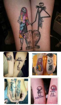 nightmare before christmas tattoos for couple