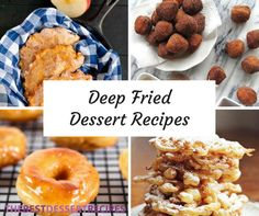 25 Deep Fried Dessert Recipes From doughnuts to cronuts, these easy fried desserts are sure to please the crowd! Best Summer Desserts, Summer Dessert Recipes, Delicious Desserts, Yummy Food, Tasty, Fried Doughnut Recipe, Deep Fried Desserts, Homemade Funnel Cake, Bite Size Desserts