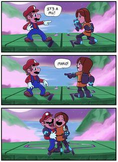 Super Smash bros Puns, very cute! Super Smash Bros Brawl, Super Mario Bros, Nintendo Super Smash Bros, Super Mario Memes, Video Game Memes, Video Games Funny, Funny Games, Funny Videos, Mario And Luigi