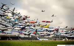 Air Traffic World HD Desktop Wallpaper Free Download- High Definition…