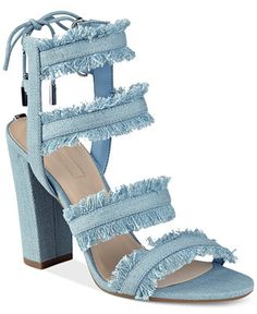 These will be PERFECT when it warms up a little bit! Perfect denim sandals