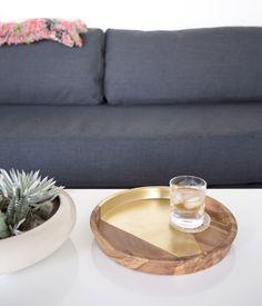 Gold Arrow Teak Tray Interior Design Inspiration, Home Decor Inspiration, Small Furniture, Humble Abode, Decoration, Living Spaces, Living Room, Teak, Home Improvement
