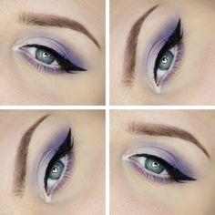 Purple/Lilac eyemakeup. #prom #mua #eyeliner makeup by Erica http://midnattsgator.devote.se