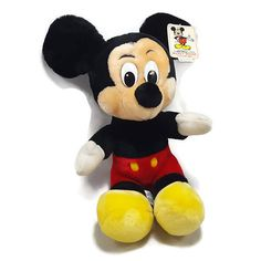 Vintage NWT Mickey Mouse Plush- Disney Souvenir Stuffed Animal- 10in Tall- Disneyland Disneyworld Resort- Park Exclusive- Plush Toy Cartoon by PinkFlyingPenguin Disney World Resorts, Walt Disney World, Disney Stuffed Animals, Disney Souvenirs, Etsy Vintage, Disneyland, Mickey Mouse, Plush, Etsy Shop