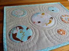 "Mermaid Fabric: Heather Ross, ""Mendocino"". Mini Quilt by Fiona @ Poppy Makes, via Flickr"