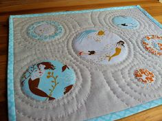 "Mermaid Fabric: Heather Ross, ""Mendocino"". Mini Quilt by Fiona @ Poppy Makes, via Flickr"
