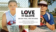 Break in, use it, and love it. With JustBallGloves Love Your Glove, you can try your baseball glove or softball glove at no-risk for 100 days. Dont Love, Love You, Fastpitch Softball Gloves, Baseball Gloves, 100th Day, Baseball Cards, Free Shipping, Learning, Top
