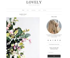 Lovely is a simple WordPress theme that delivers. #Freebies #CreativeMarket #1stWebDesigner #WebDesign