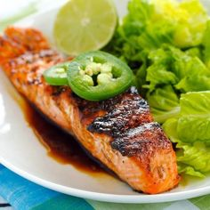 Grilled Salmon with Sweet Jalapeño Glaze Recipe Main Dishes with lime ...