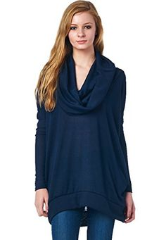 LeggingsQueen Cowlneck Long Sleeve Loose Fit High & Low Tunic Top with Pocket (Navy, Large) LeggingsQueen http://www.amazon.com/dp/B00QT4ZJ98/ref=cm_sw_r_pi_dp_2XsKub04Y7NWY