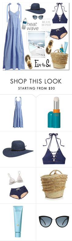 """A Dress for a Heat Wave"" by ellie366 ❤ liked on Polyvore featuring Wallace, Caroline Constas, Shiseido, Volcom, Jonathan Simkhai, Coach, Caterina Bertini, Tatcha, Topshop and MICHAEL Michael Kors"