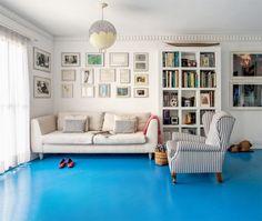 piso de tacos pintado com tinta epóxi