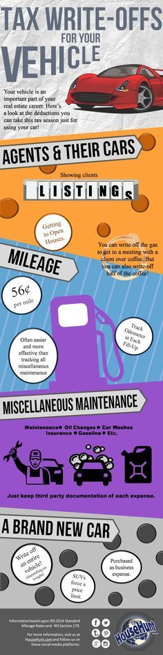 Tax Write-Offs for Your Vehicle #Infographic http://www.blog.househuntnetwork.com/tax-write-offs-vehicle-infographic/