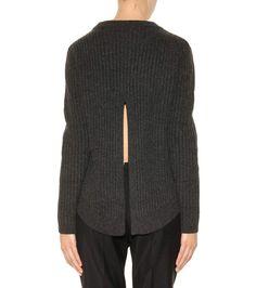 Lavina dark grey ribbed merino wool sweater