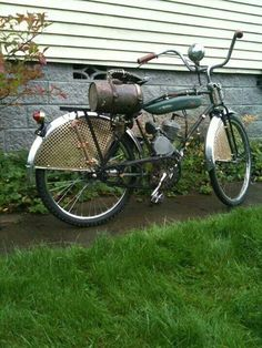 Steampunk motor bicycle.
