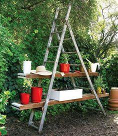 scale come portaoggetti da giardino