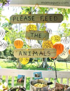 The Complete Guide to the Best Zoo Birthday Party Fabulous party ideas to throw a zoo birthday party, including DIY projects, party favors, a zoo-themed menu, decorations and an amazing homemade zoo cake! Animal Themed Birthday Party, Jungle Theme Birthday, Safari Theme Party, Wild One Birthday Party, 1st Boy Birthday, Boy Birthday Parties, Birthday Ideas, Jungle Theme Parties, Diy Jungle Birthday Decorations
