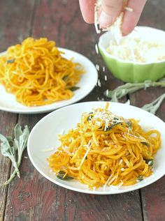 Butternut Squash Noodles in Sage Brown Butter with Parmesan from @boulderlocavore