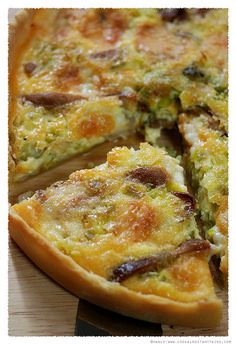 This looks delicious. Leek and Oyster Mushroom Tart. Be sure to have your metric conversions handy!