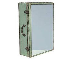 Prateleira com espelho suitcase oldway
