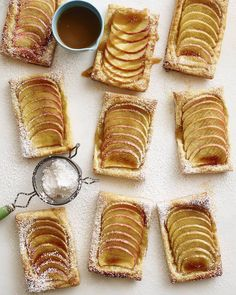 Expecting last-minute guests? Use store-bought puff pastry sheets—like this Vanilla Apple Tart recipe calls for—for a foolproof, homemade fall dessert you can make in no time. Puff Pastry Desserts, Puff Pastry Recipes, Köstliche Desserts, Tart Recipes, Apple Recipes, Delicious Desserts, Dessert Recipes, Cooking Recipes, Yummy Food